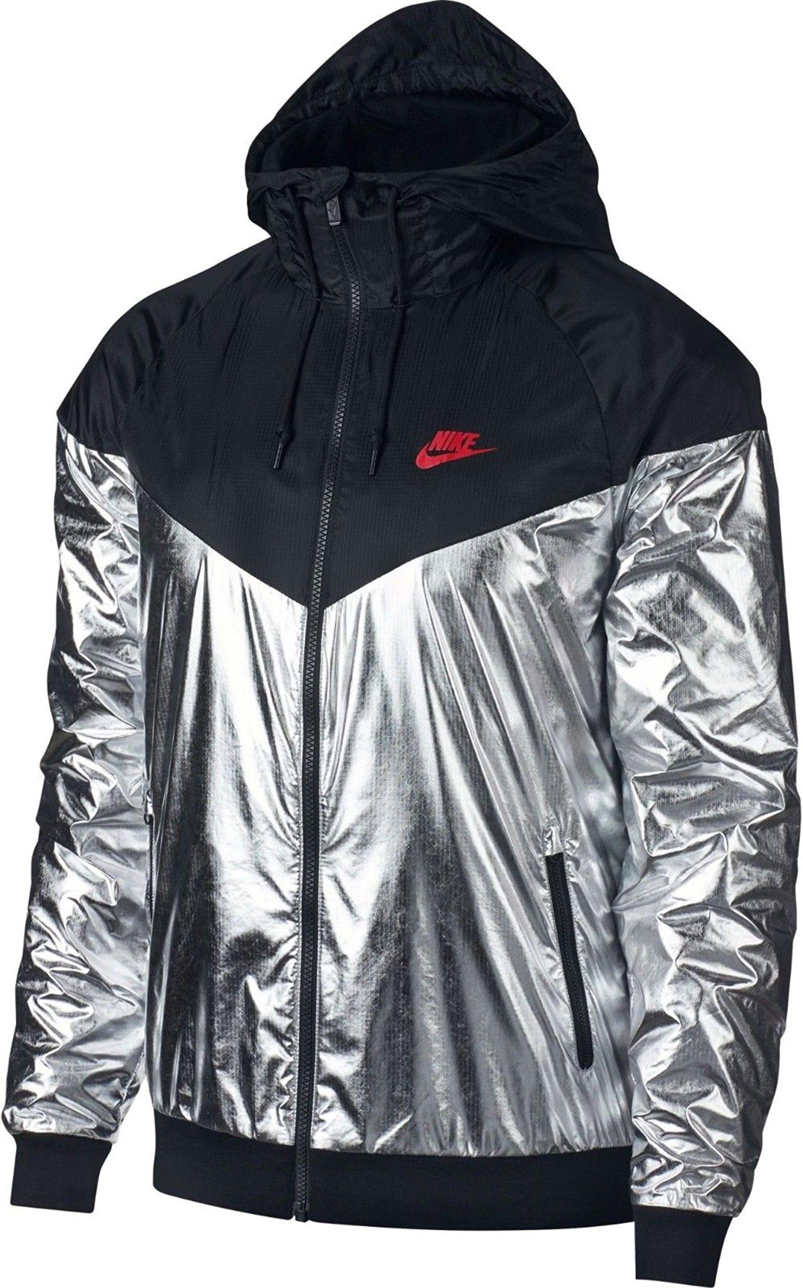 6d925b697b991 Galleon - NIKE Men's Sportswear Windrunner Jacket (Large, Metallic SSilver/ Black/Red)