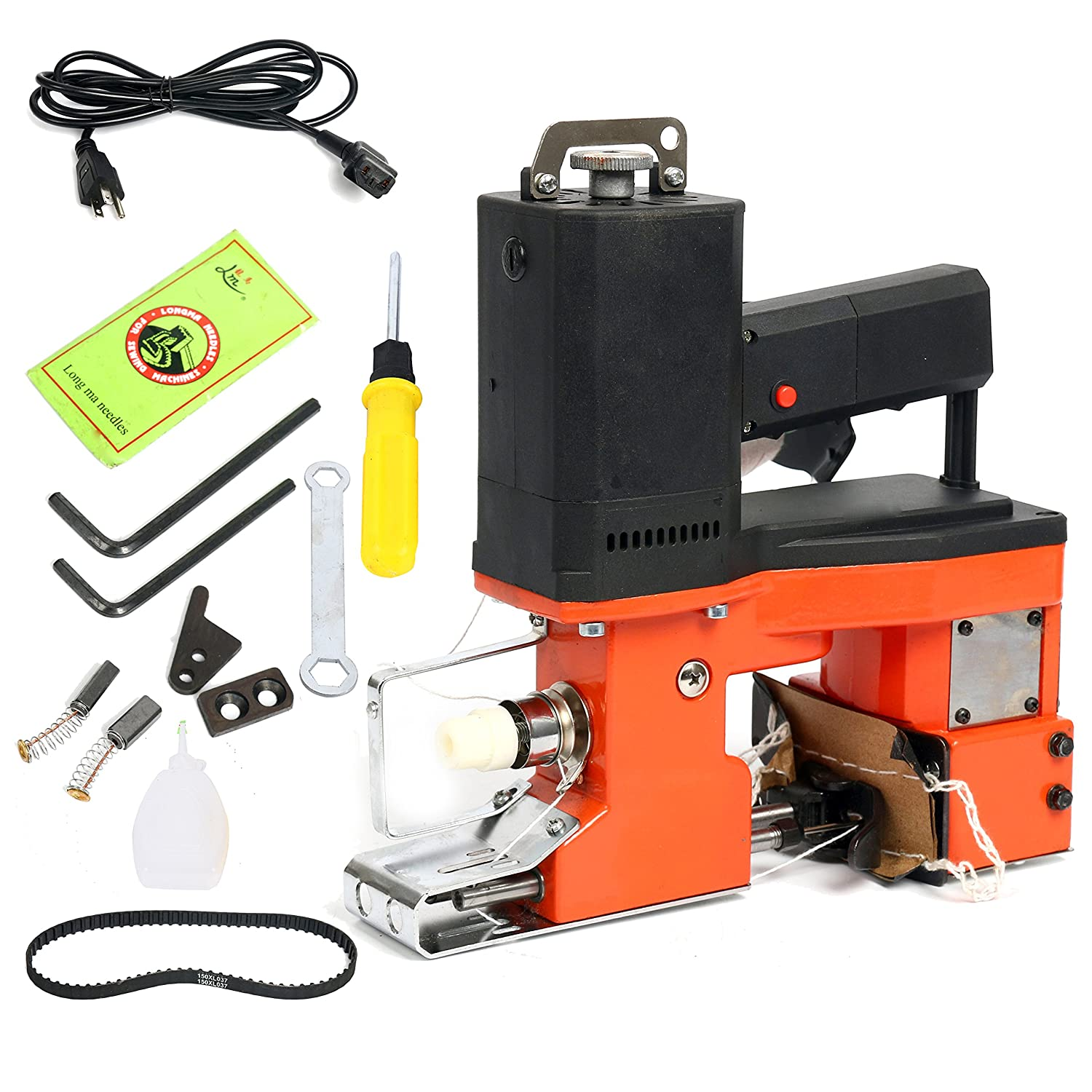 Yaetek 110V Industrial Portable Electric Bag Stitching Closer Seal Sewing Machine Closing Sealing Stitcher Yaemart Corportation TEK-NY-8133
