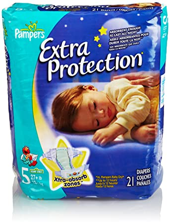 Pampers Extra Protection Diapers, Size 5, Jumbo Pack, 21 Count