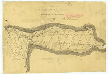 Port Gamble Washington Map.Amazon Com Vintography 8 X 12 Inch 1855 Washington Old Nautical Map