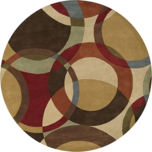 Surya FM-7108 Forum Chocolate 8-Feet Round Area Rug