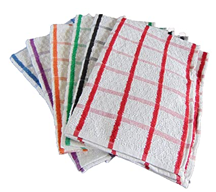 Pack de 6 100% algodón Super Jumbo toallas de té de escurreplatos sin blanquear macetas