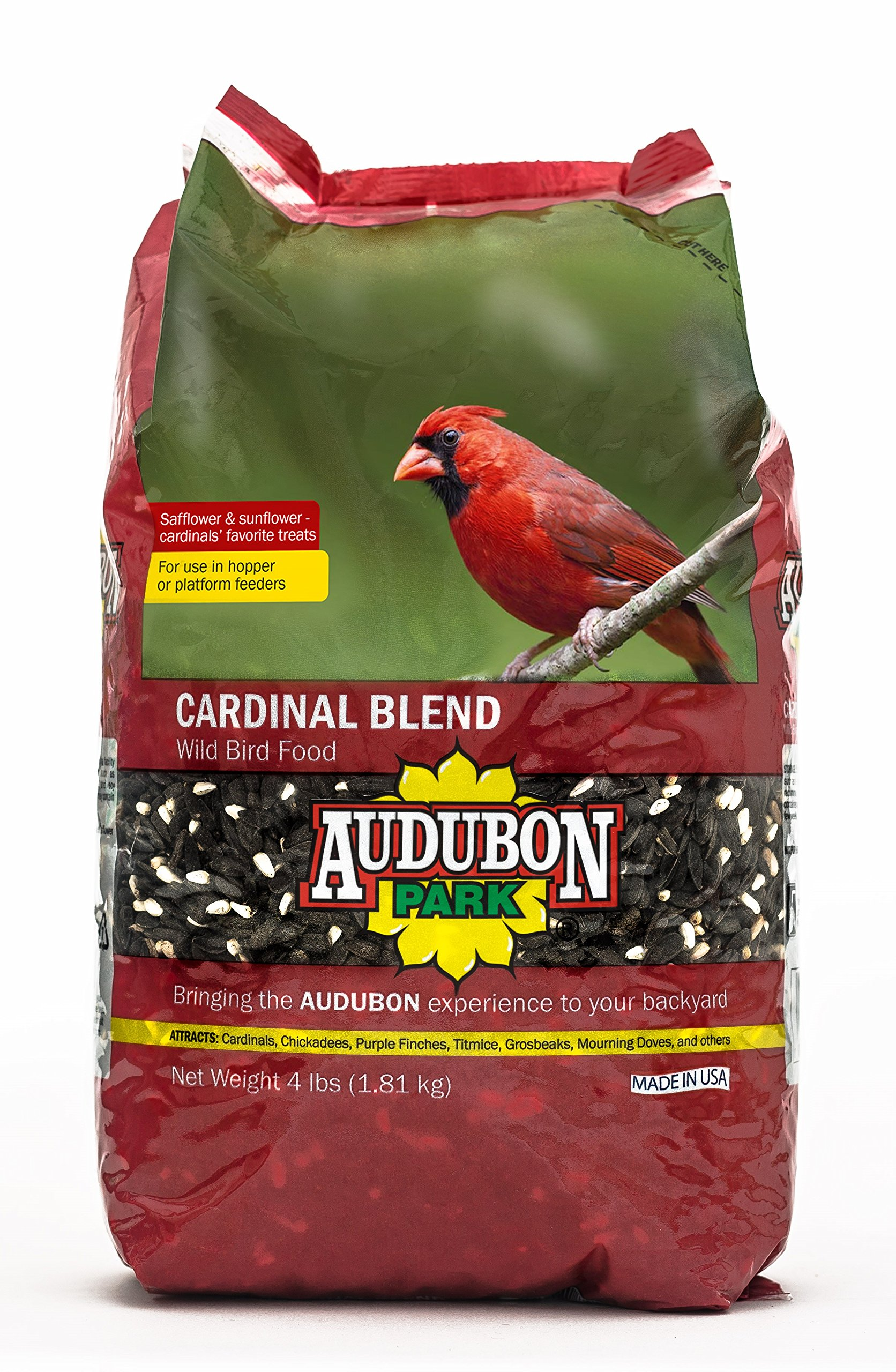 Aududon Park 12231 Cardinal Blend Wild Bird Food, 4-Pounds by Audubon Park