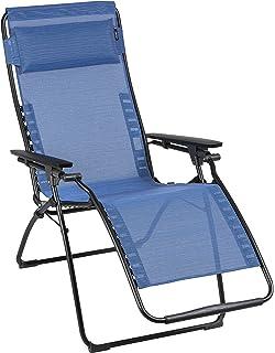 Good Lafuma Futura Zero Gravity Chair, Black Steel Frame, Outremer