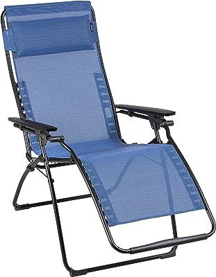 Lafuma Futura Zero Gravity Chair, Black Steel Frame, Outremer