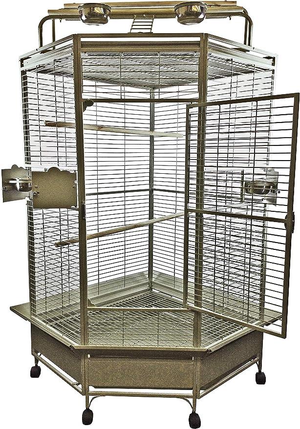 Amazon.com: Jaula de pájaros de esquina grande.: Mascotas