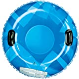 """Pipeline SNO RACER Inflatable 1 Person Snow Tube with 2 Grip Handles, 32"""" Inch Diameter"""