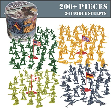 Amazon Com Army Men Action Figures 200 Wwii Toy Soldiers 26