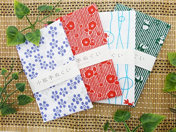 Japonais Traditionnel Tenugui Serviettes Petit patternwhale