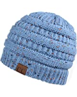 Hatsandscarf CC Exclusives Unisex Ribbed Confetti Knit Beanie (HAT-33)
