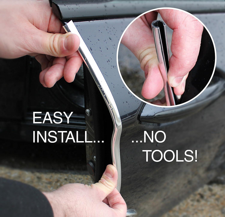 1 Roll Pack VViViD Silver Chrome Car Door Edge Seal Adhesive Protector 1.8m Strip