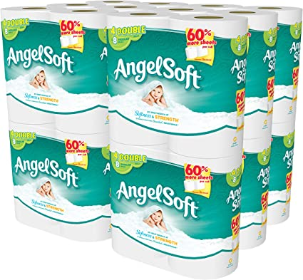 Amazon Com Angel Soft 48 Double Rolls Bath Tissue 4 Count Pack Of 12 Health Personal Care