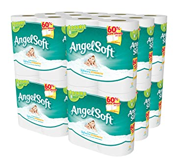 Angel Soft 48 Double Rolls Bath Tissue  4 Count  Pack of 12. Amazon com  Angel Soft 48 Double Rolls Bath Tissue  4 Count  Pack