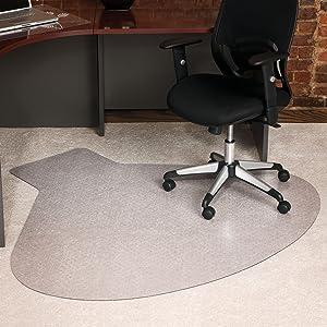 """ES Robbins Everlife Carpet Chair Mat, 54""""x60"""", Clear"""