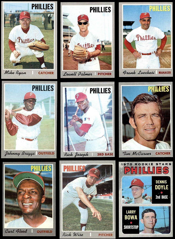 1970 Topps Philadelphia Phillies Near Team Set Philadelphia Phillies (Baseball Set) Dean's Cards 7 - NM Phillies 91zKJSgRtxLSL1500_