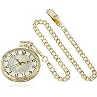 August Steiner de los hombres esfera redonda cn012yg con nosotros Half Dollar Coin cadena de tono de oro reloj de cuarzo