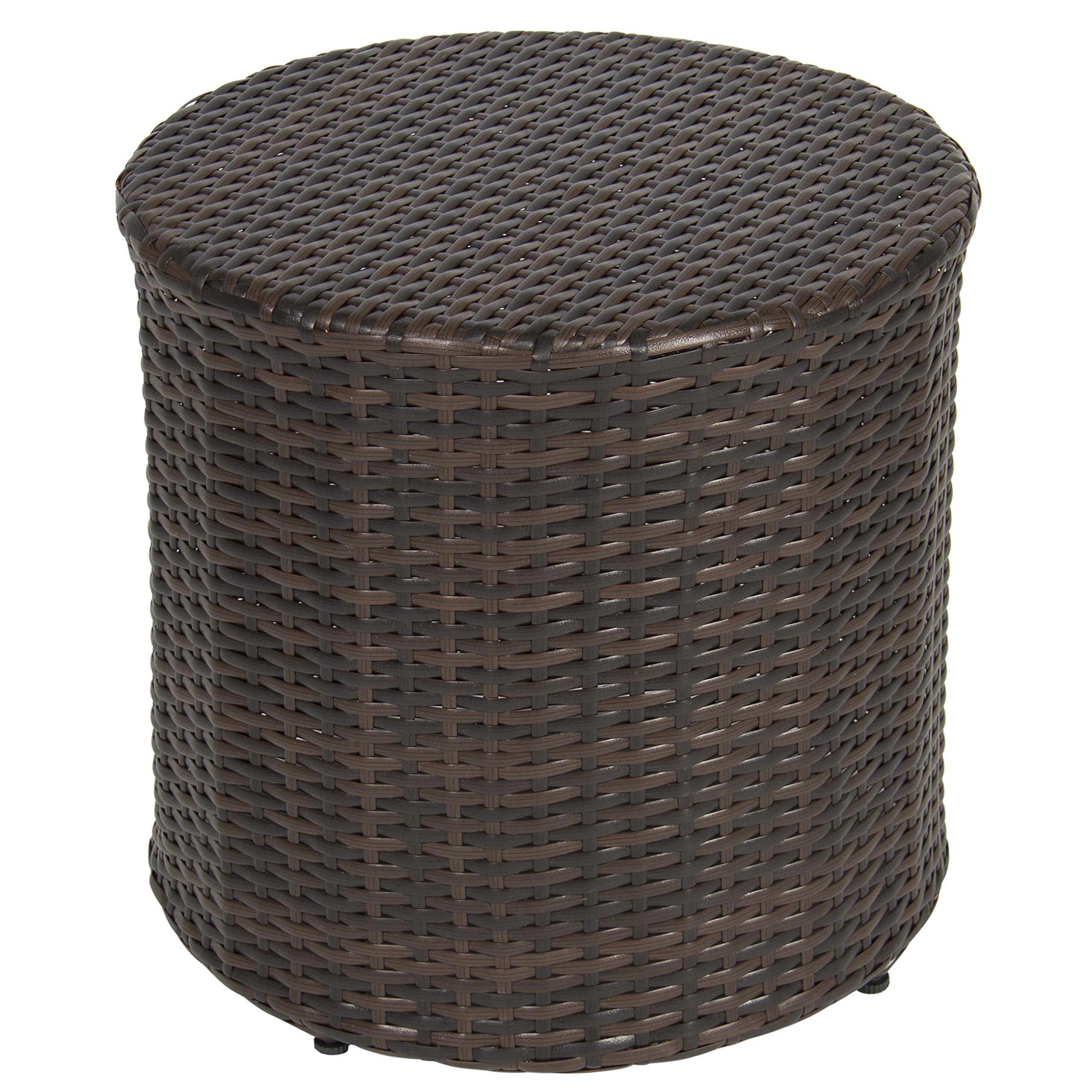 Best Choice Products Outdoor Wicker Rattan Barrel Side Table Patio Furniture Garden Backyard Pool by Best Choice Products