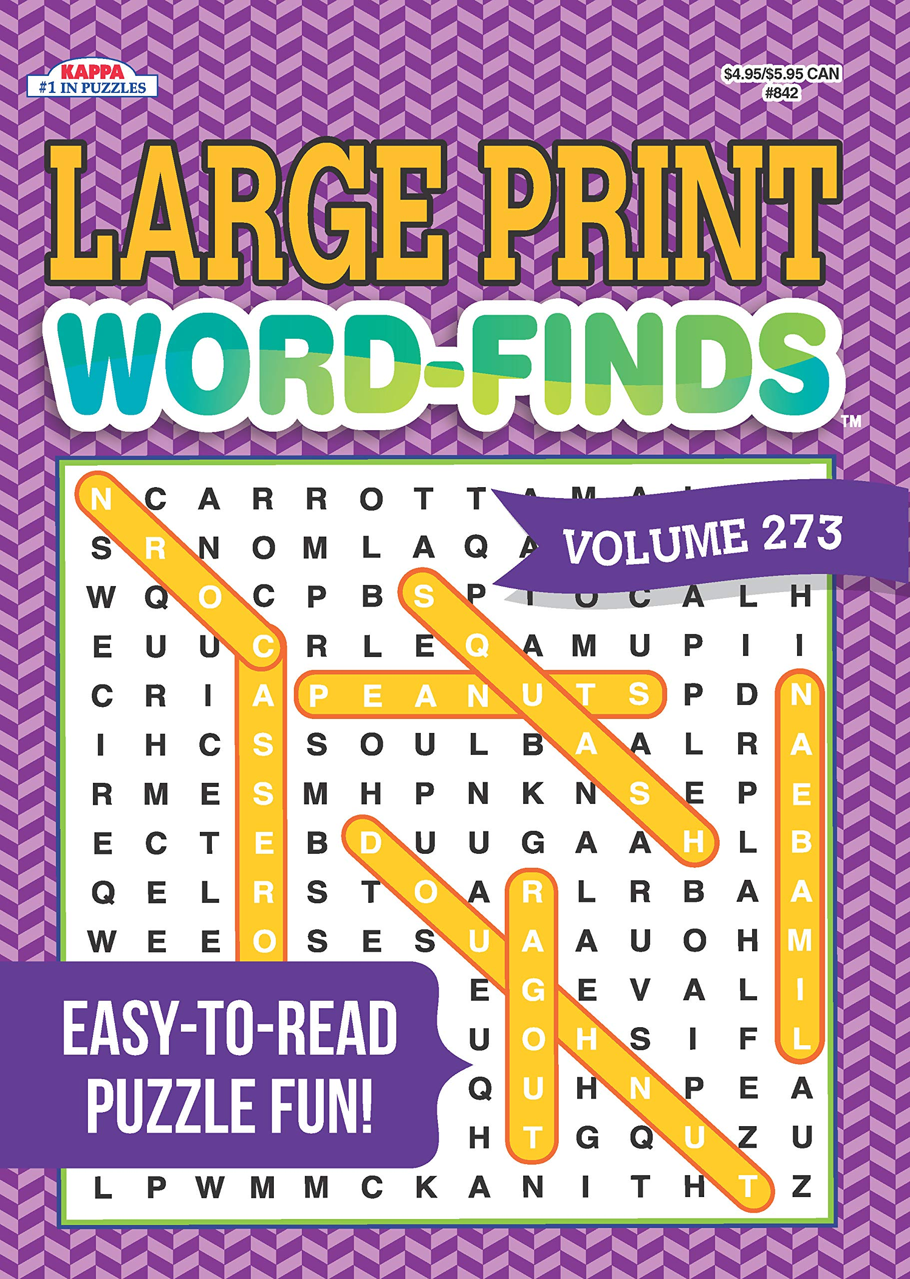 - Large Print Word-Finds Puzzle Book-Word Search Volume 273: Kappa