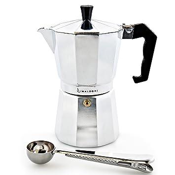 Cafetera italiana por maldoni: hornillo, de café cafetera eléctrica con diseño de maceta de
