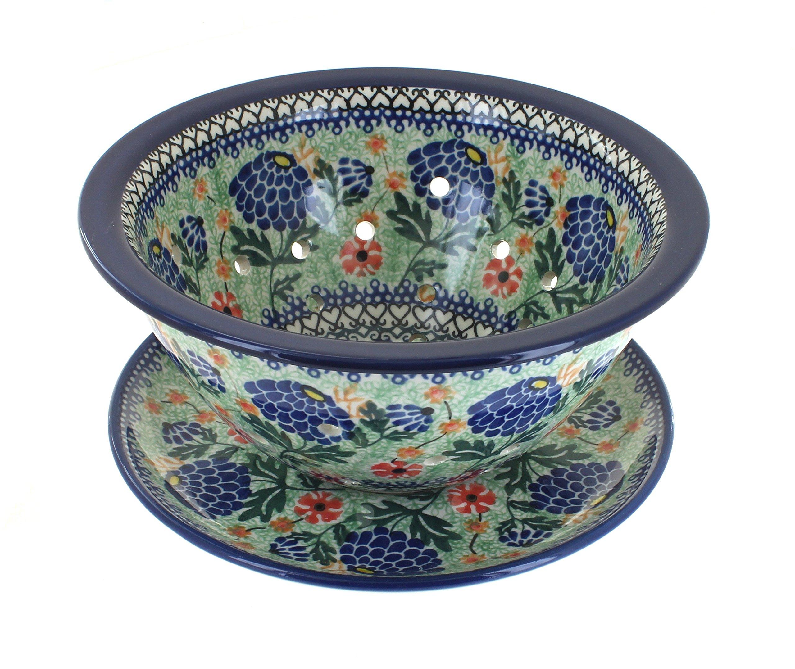 Polish Pottery Sofia Berry Bowl & Plate