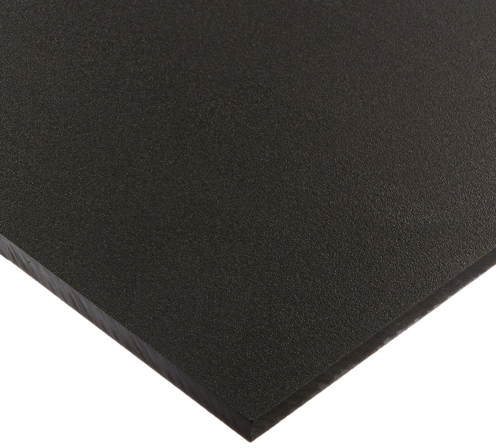 Seaboard High Density Polyethylene Sheet, Matte Finish, 1/2'' Thick, 12'' Length x 24'' Width, Black