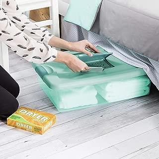 product image for Sterilite 15067Y06 32 Qt, 30L Fresh Scent Box, Aqua Tent base with Aqua Chrome Lid & Teal Splash Latches, 6-Pack