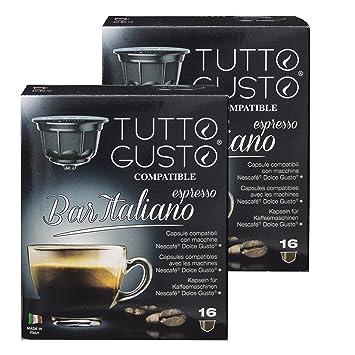 Gusto Italiano Tutto espresso Bar, café, compatible con máquinas Nescafé Dolce Gusto,{32} cápsulas: Amazon.es: Hogar