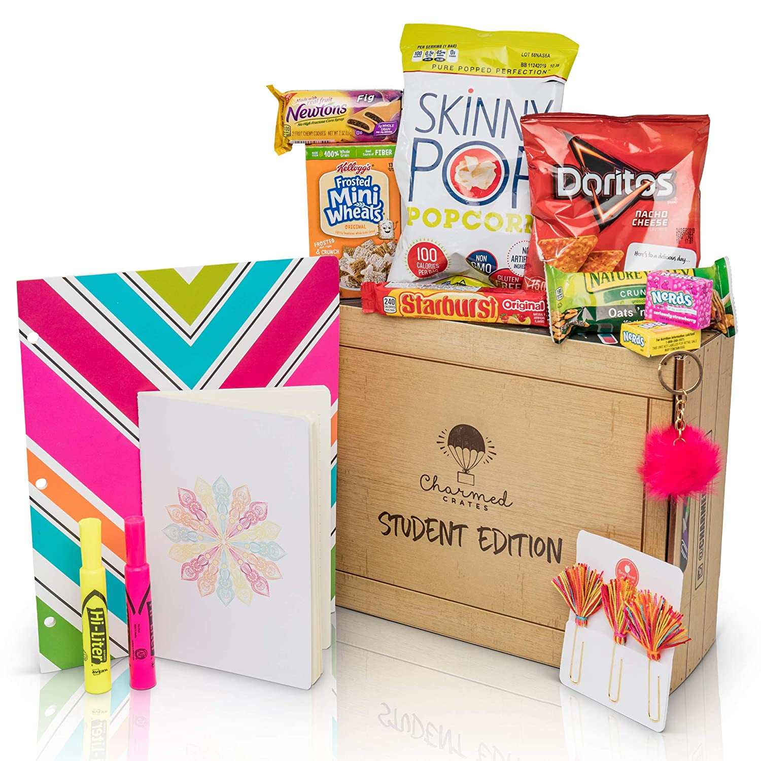 finals sticker kit ldr studying survival kit snack box exam College care package back to school pre-made box flaps student gift box