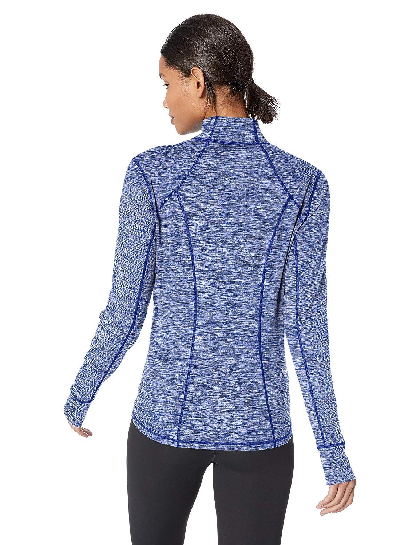 24d972fa8c Amazon.com: Amazon Essentials Women's Brushed Tech Stretch Full-Zip ...