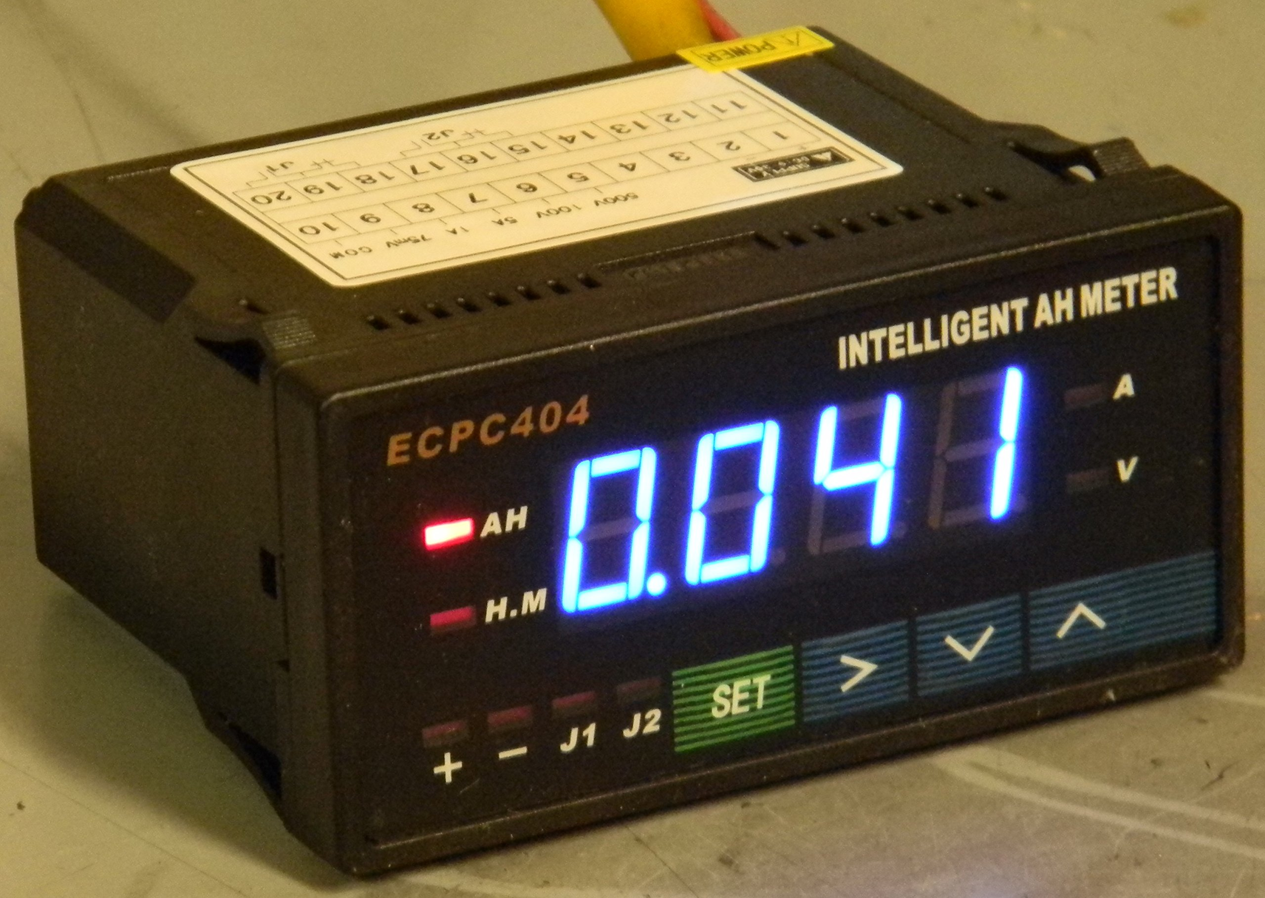 ECPC404 Ammeter Voltmeter Intelligent Digital Battery Pack Monitor - USA Stock!
