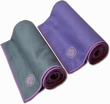 SoulHaven Hot Yoga Towels | Non Slip Yoga Mat Towel | Set of 2 towels | Microfiber Sweat Absorbent | Grip No-Slip | Matching Bag | Best for Bikram, ...