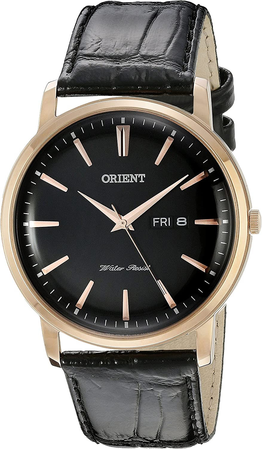 Orient Men s FUG1R004B0 Capital Analog Display Japanese Quartz Black Watch