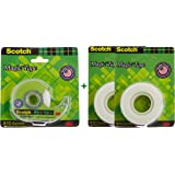 Scotch Magic Tape With Dispenser 19mm x 32.9m with additional 2 Refill Packs