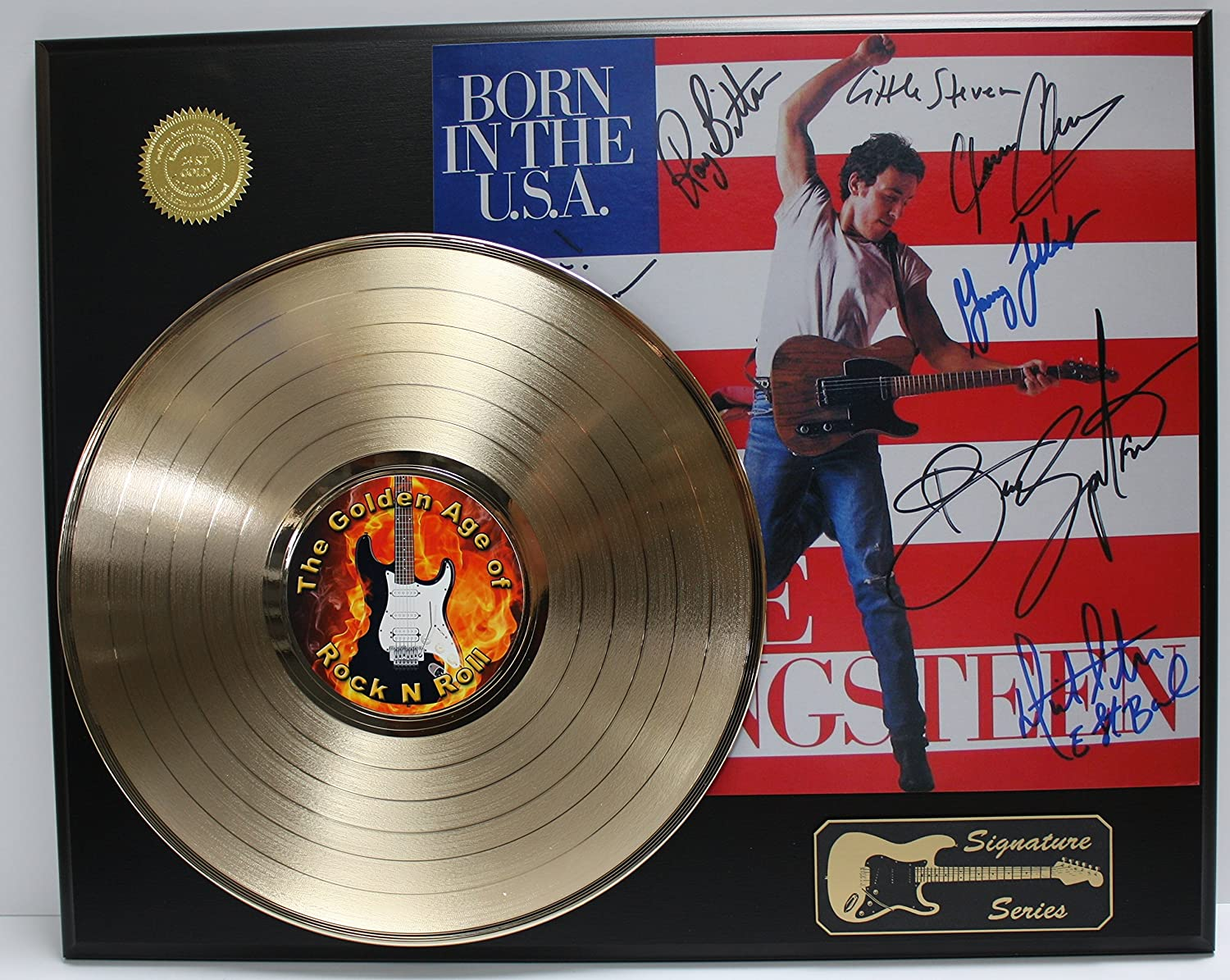 Bruce Springsteen and the E Street Band Gold LP Record Signature Series Limited Edition Display