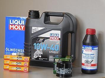 Kit de mantenimiento Honda Goldwing 1800 aceite de aceite Bujía Service Inspección: Amazon.es: Coche y moto