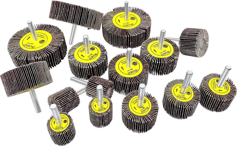50X Sanding Sandpaper Flap Wheel Brush For Rotary Tools Die Grinder Drill Bits