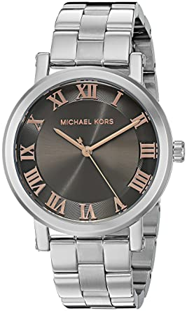 79bd33dbb3 Amazon.com  Michael Kors Women s Norie Silver-Tone Watch MK3559 ...
