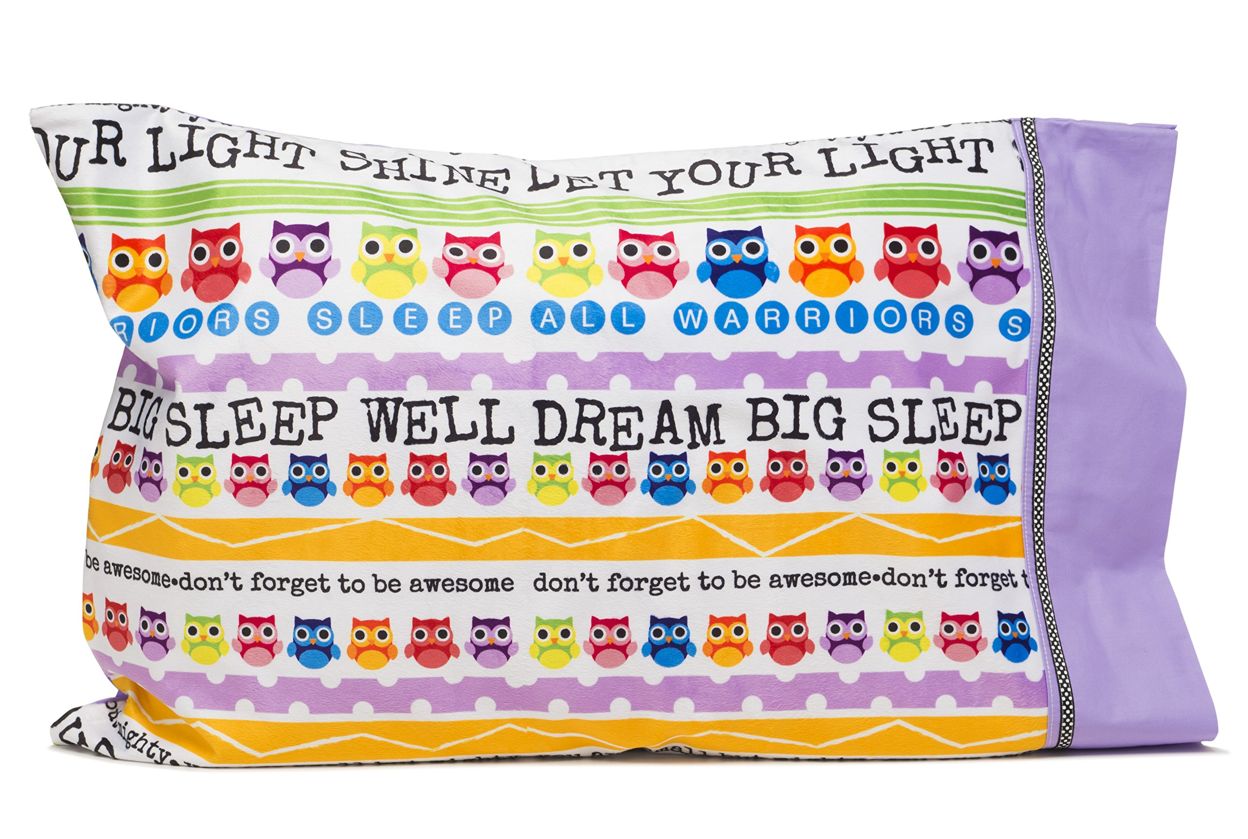 Slumber Party Supplies - Owl Pillowcase - Personalize your LET YOUR LIGHT SHINE pillowcase - Fun gifts for kids and teens- Super cute pillowcase - Christian gifts for kids by Flipside Pillow