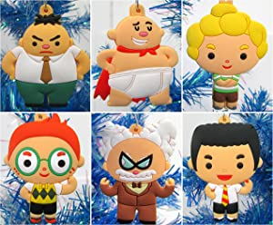 Christmas Tree Ornaments Captain Underpants Set Featuring Harold and Friends