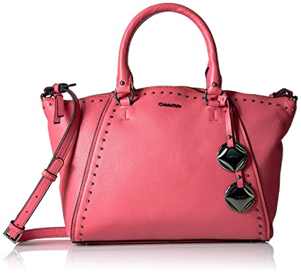 b265bf70ee Calvin Klein Avery Pebble Studded Satchel Satchel Bag