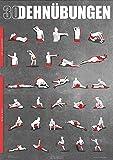 Dehnübungen Poster DIN A1 - Anleitung zum Stretching und Dehnen für dein Workout - Trainingsplaner für zu Hause