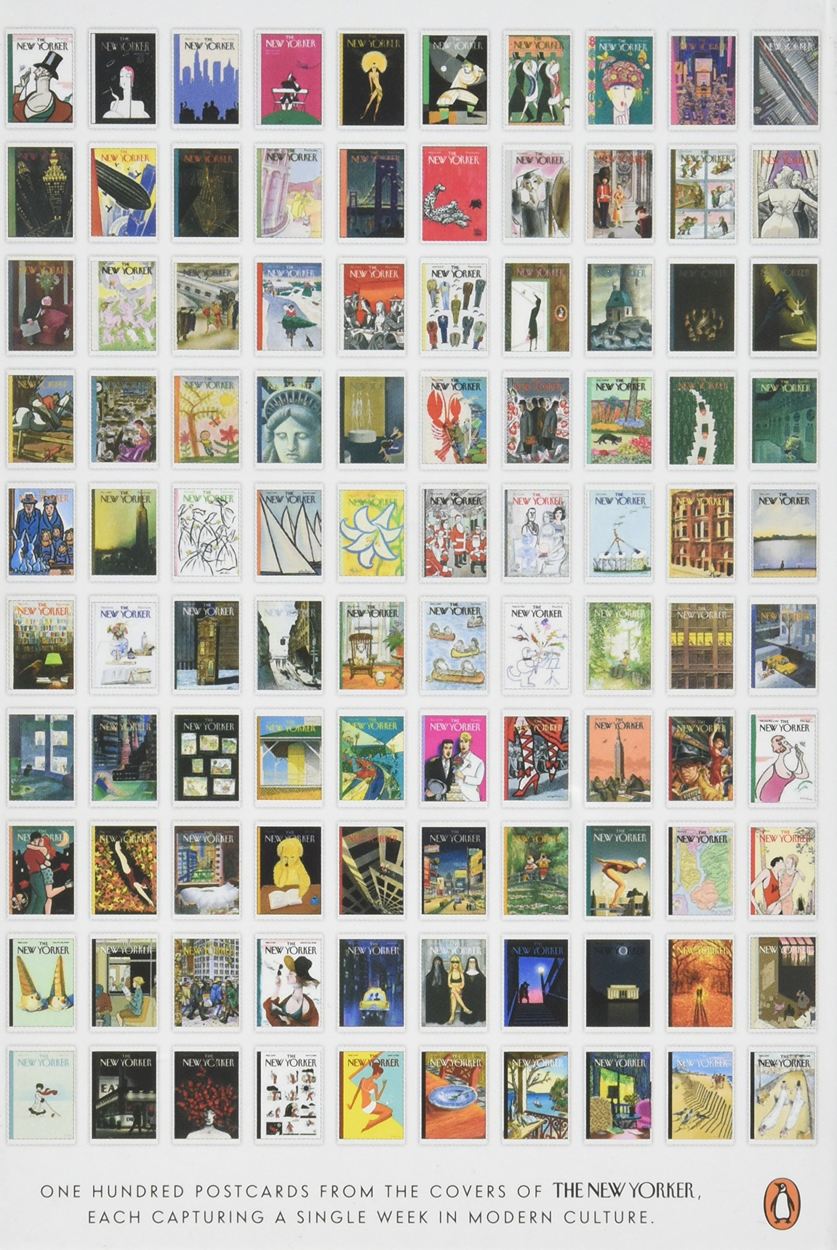 Postcards from the New Yorker: One Hundred Covers from Ten Decades by Penguin Books (Image #2)