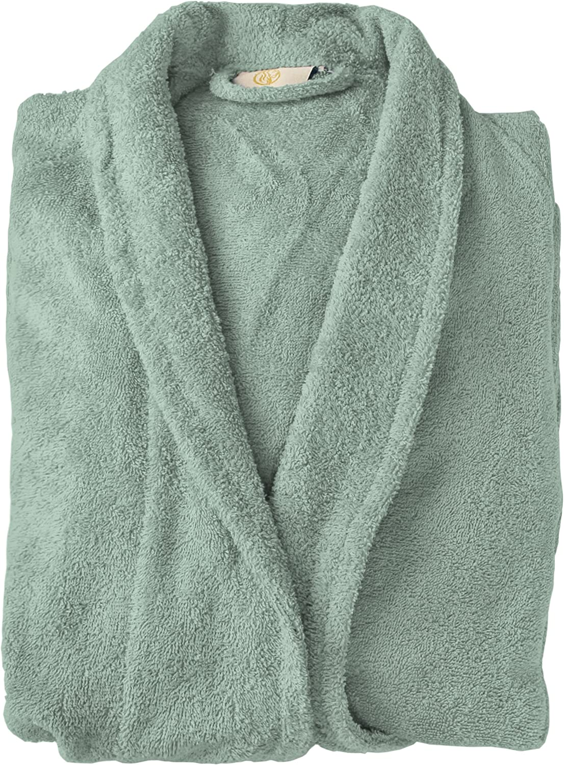 SUPERIOR Cotton Unisex Terry Bathrobe for Woman and Man, Soft SPA Robes