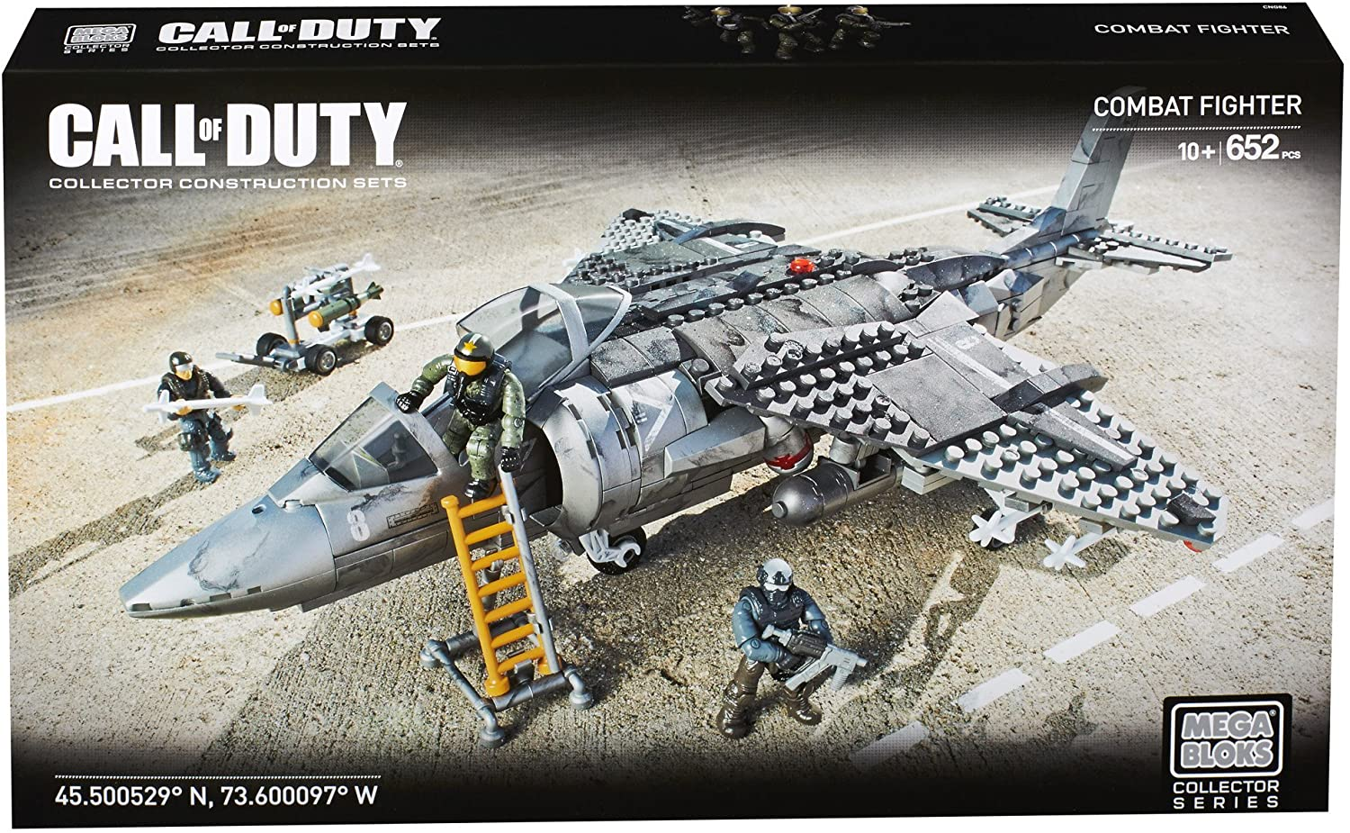 FIGHTER JET Building Set 652 piece CNG86 Mega Bloks Call of Duty COMBAT Strike