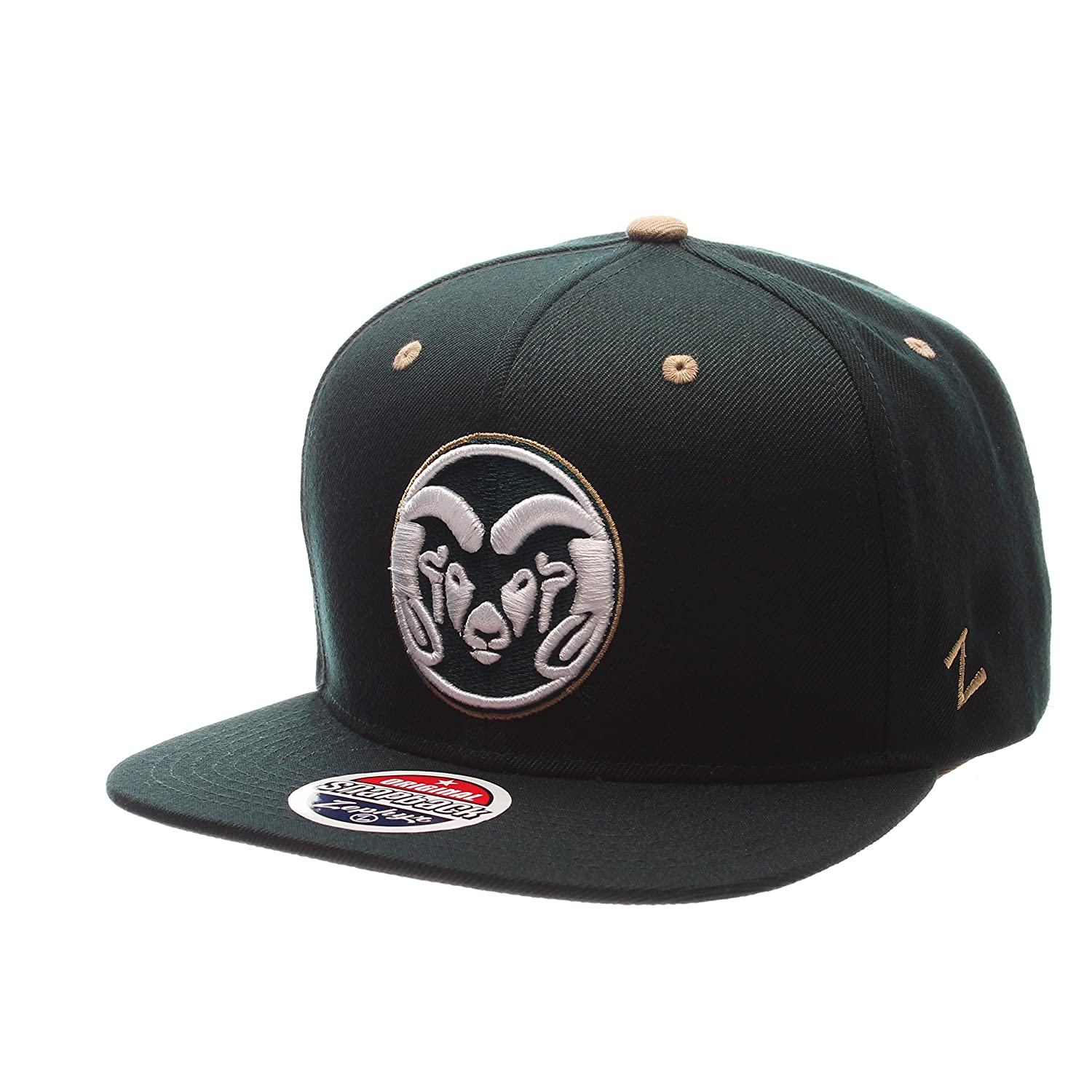 Zephyr Men 's Colorado State Rams z11 Zwool帽子グリーンAdj   B01N94ZW4E