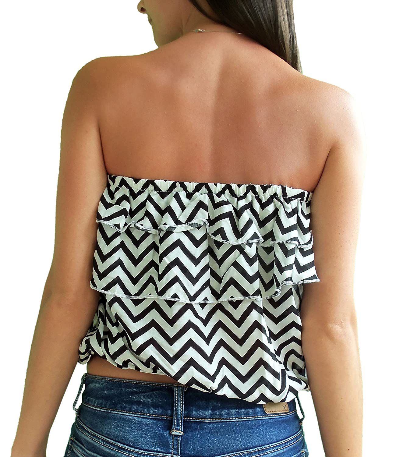 c97715b6e7d07 Wishful Park Junior s Peasant Style Crop Halter Top at Amazon Women s  Clothing store