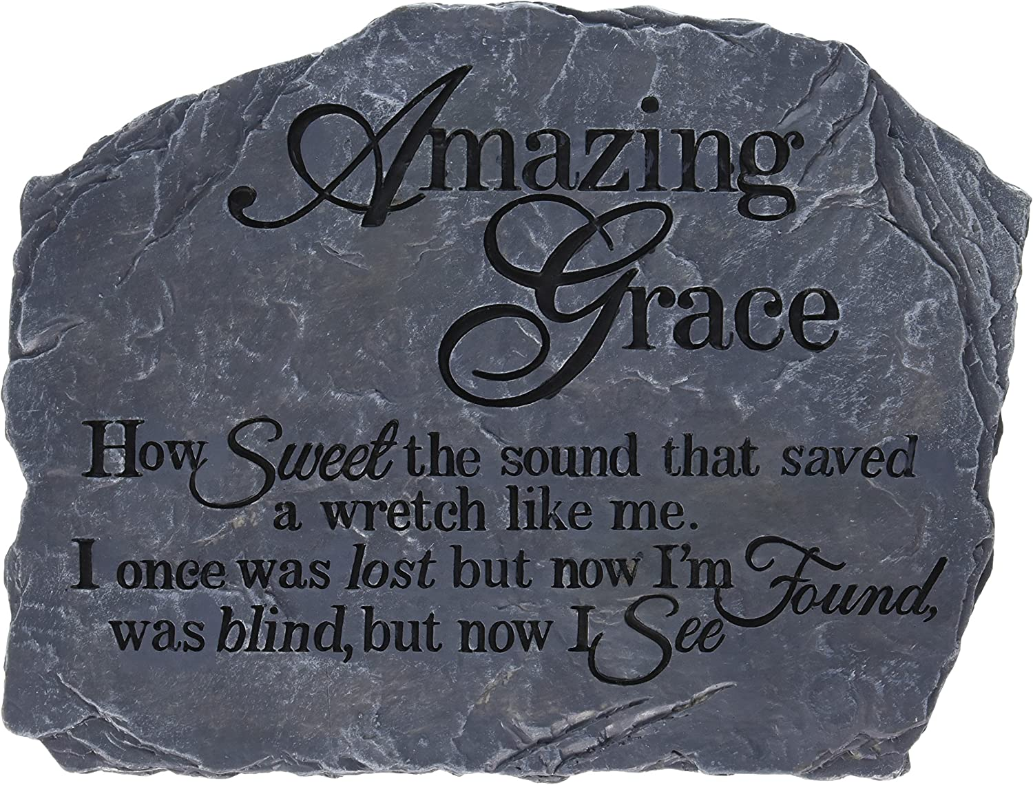 Carson Home Accents Garden Stone, 10.5-Inch by 8-Inch, Amazing Grace