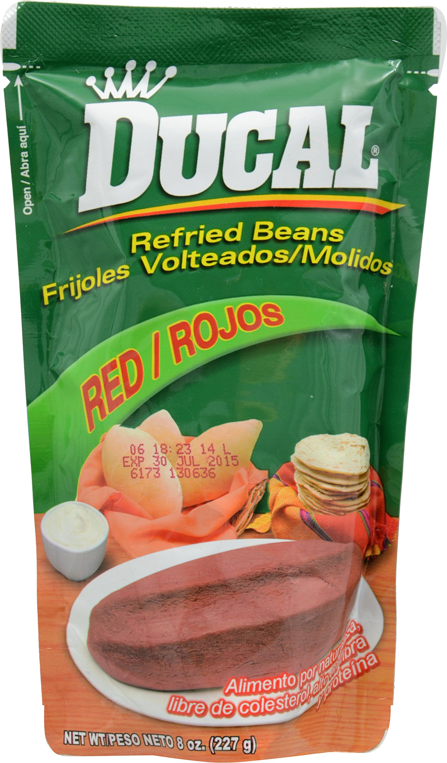 Ducal Refried Red Beans Pouch, 8 Ounce (Pack of 24) by Ducal (Image #1)