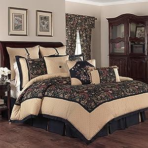 WAVERLY Rhapsody 4-Piece Comforter Set, Queen, Jewel