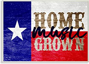 Stupell Industries Home Grown Music Texas Oversized Wall Plaque Art, Proudly Made in USA
